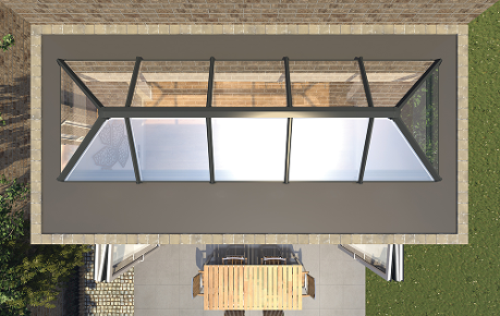 LANTERN ROOF 321, conservatory roof, orangery roof, glazed extension, fleet extension builder,